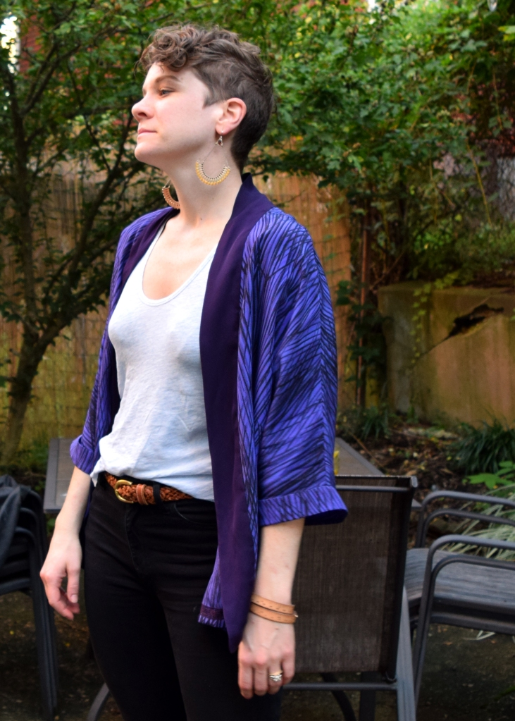 front view of tokyo jacket by tessuti patterns